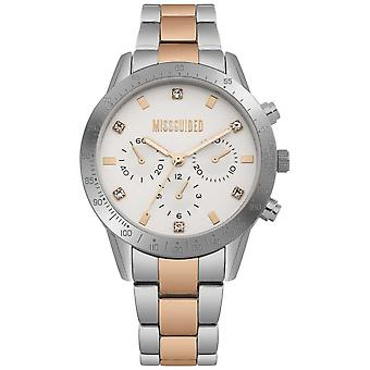 Missguided Ladies Two Tone Silver And Rose Gold | MG004SRM Watch