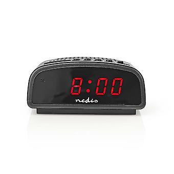 "Nedis CLDK008BK Digitale Alarmklok Led Van 0,6"" Sluimeren"