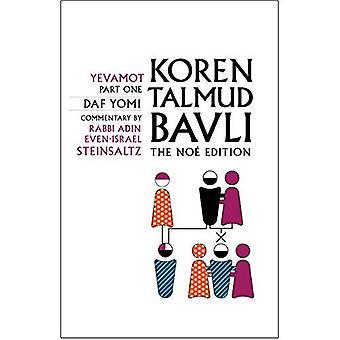 Koren Talmud Bavli No, Vol 14: Yevamot Part 1, Hebrew/English, Daf Yomi Size B&W Edition