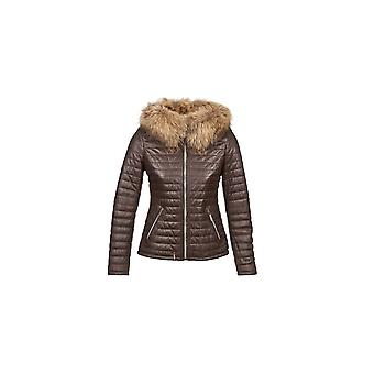 Oakwood Leather Jacket With Faux Fur Collar - Fury