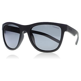 Polaroid Junior PLD 8018/S leeftijd 2-5 jaar YYV mat zwart 8018/S vierkante zonnebril gepolariseerd Lens categorie 3 grootte 47mm