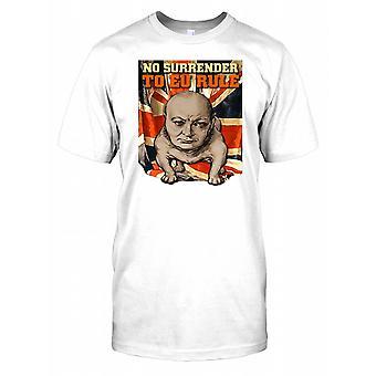 Nie wykupu do przepisu UE - Winston Churchill - Bulldog dzieci T Shirt