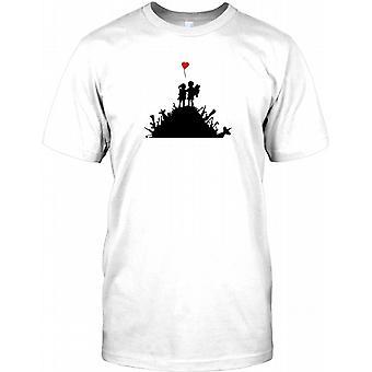 Bansky - Kinder auf Waffe Hill-T-Shirt für Herren