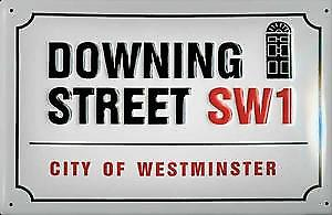Downing Street embossed steel sign    (hi 3020)