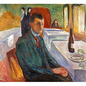 Self-portrait, Edvard Munch, 50x45cm