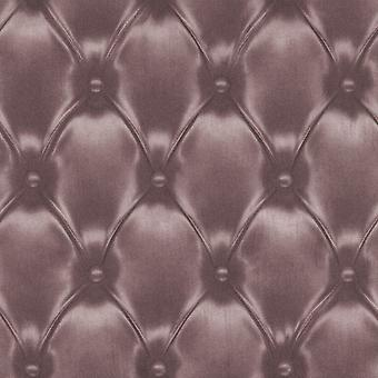 Cushioned Leather 3D Effect Headboard Wallpaper Purple Metallic Paste The Wall