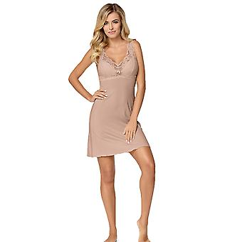 Nipplex Frauen Bona Mocca Beige bestickt Lace Night Gown Loungewear Nightdress