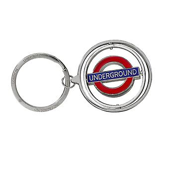 London U-Bahn Roundel UNDERGROUND Spinner Keyring (gwc)
