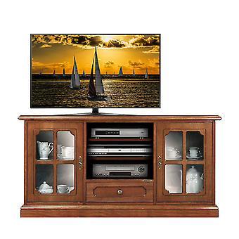 Klassieke kast voor TV met glazen deuren