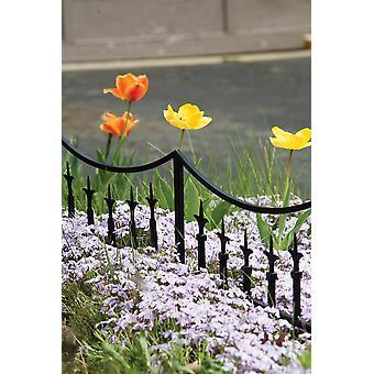 Klassieke Finial tuin rand zwart stijlvolle decoratieve