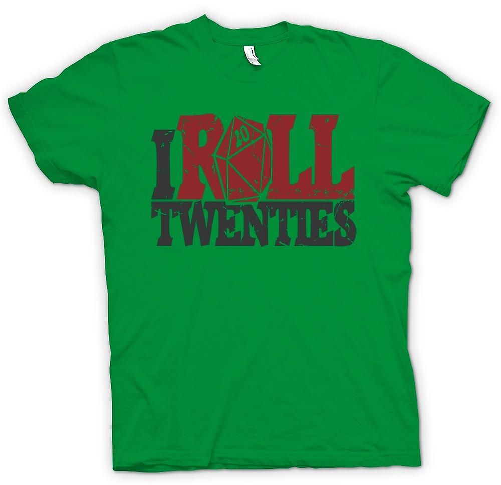 Mens T-shirt - I Roll Twenties - Dungeons And Dragons