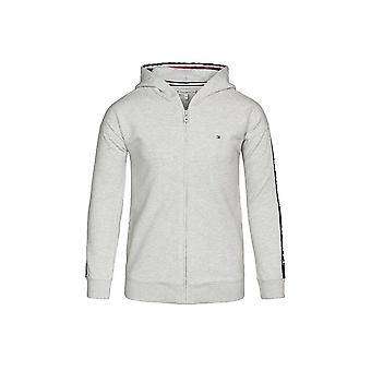 Tommy Hilfiger Girls Tommy Hilfiger Girl's Grey Tape Logo Through Hooded Tracksuit