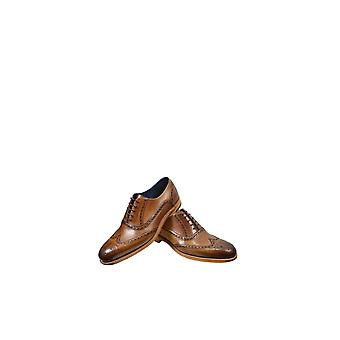 Barker Valiant Hand Painted Leather Shoes Brown