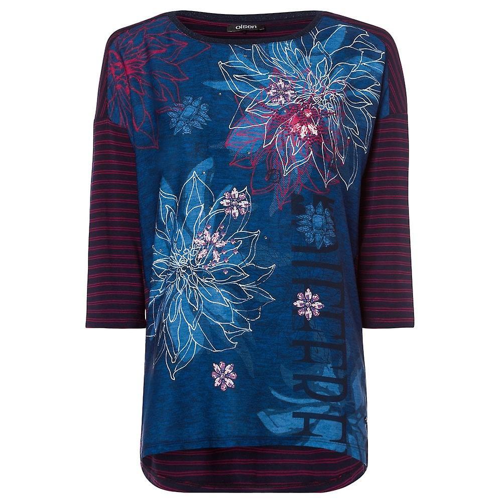 Olsen bleu Navy T-Shirt 11103366