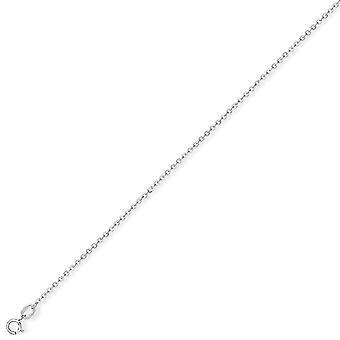 Jewelco London 18ct White Gold - Fine Trace - Pendant Chain Necklace - 1.05mm gauge