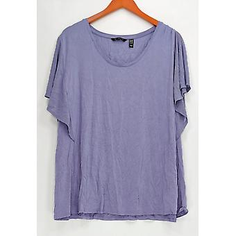 H par Halston Women-apos;s Plus Top U-Neck Batwing Sleeve Light Purple A308100