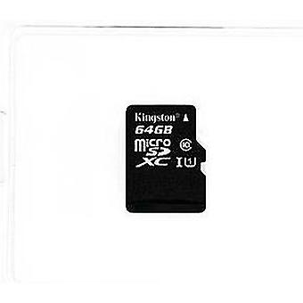 Kingston c10 micro sdhc uhs - 64g, black