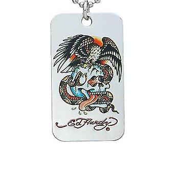 Necklace Silver Ed Hardy War Eagle