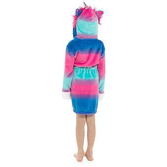 Jenter hette Unicorn design myk fleece dressing kjole badekåpe
