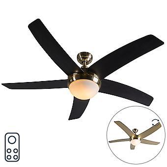Ventilateur de plafond QAZQA Cool or 52