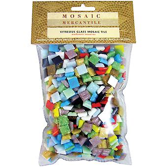 Mini Glass Tile Assorted 1 Pound Pkg Astmini1