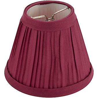 Pleated Cloth Covered Lamp Shade Burgundy 2 1 2
