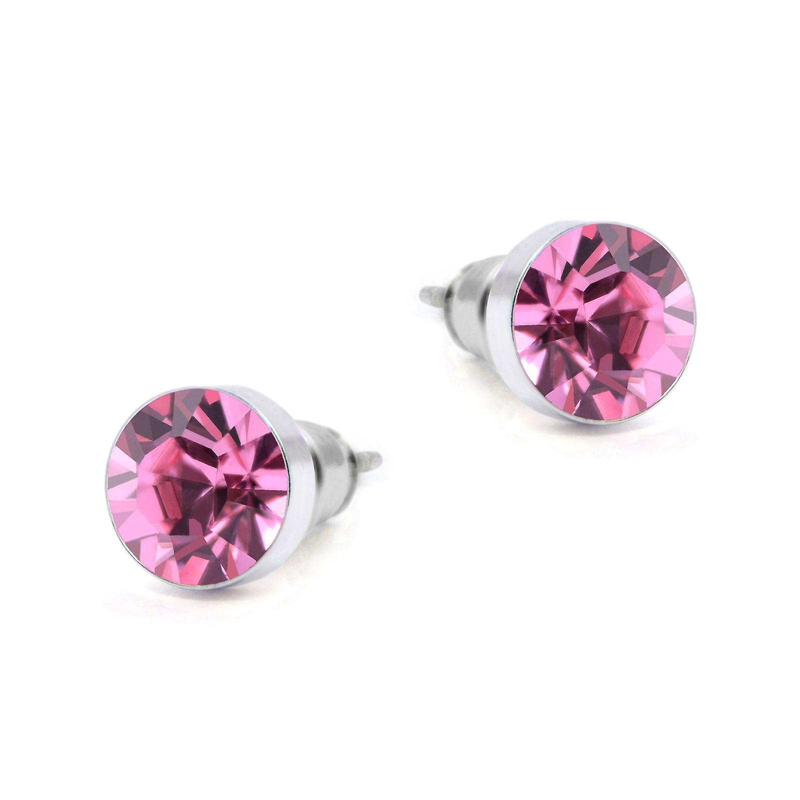 Pink Swarovski earrings EMB8.1