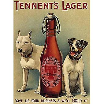 Tennent's Larger Dogs large Steel Sign  (og 4030)