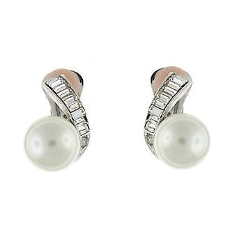 Kenneth Jay Lane Crystal & perle klipp på øredobber