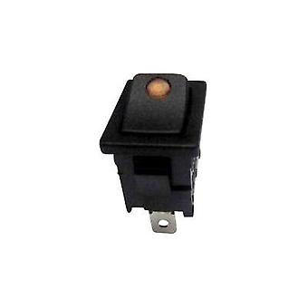 Toggle switch 250 Vac 6 A 1 x Off/On SCI R13-66B2-