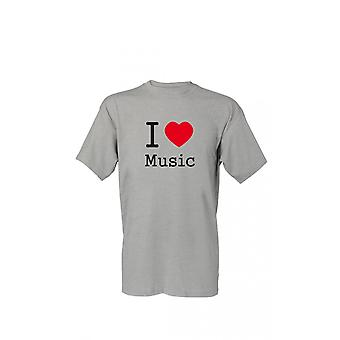T-Shirt I Love Music S-4XL