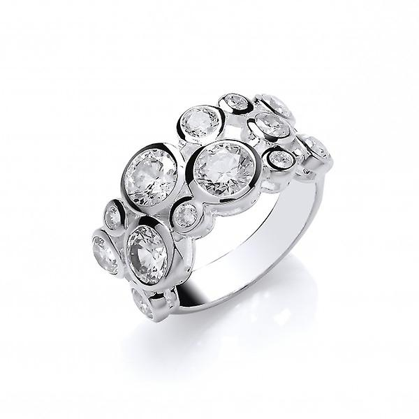 Cavendish franska sterlingsilver och CZ Bubbles Ring