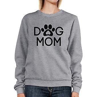 Pies Mama szara Bluza Unisex pulower ładny prezent dla właścicieli psów