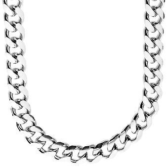 Sterling 925 Silver Tank Chain MIAMI CUBAN Diamond Cut 10mm