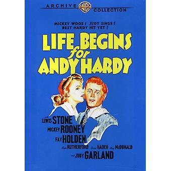 Liv begynner for Andy Hardy [DVD] USA importere