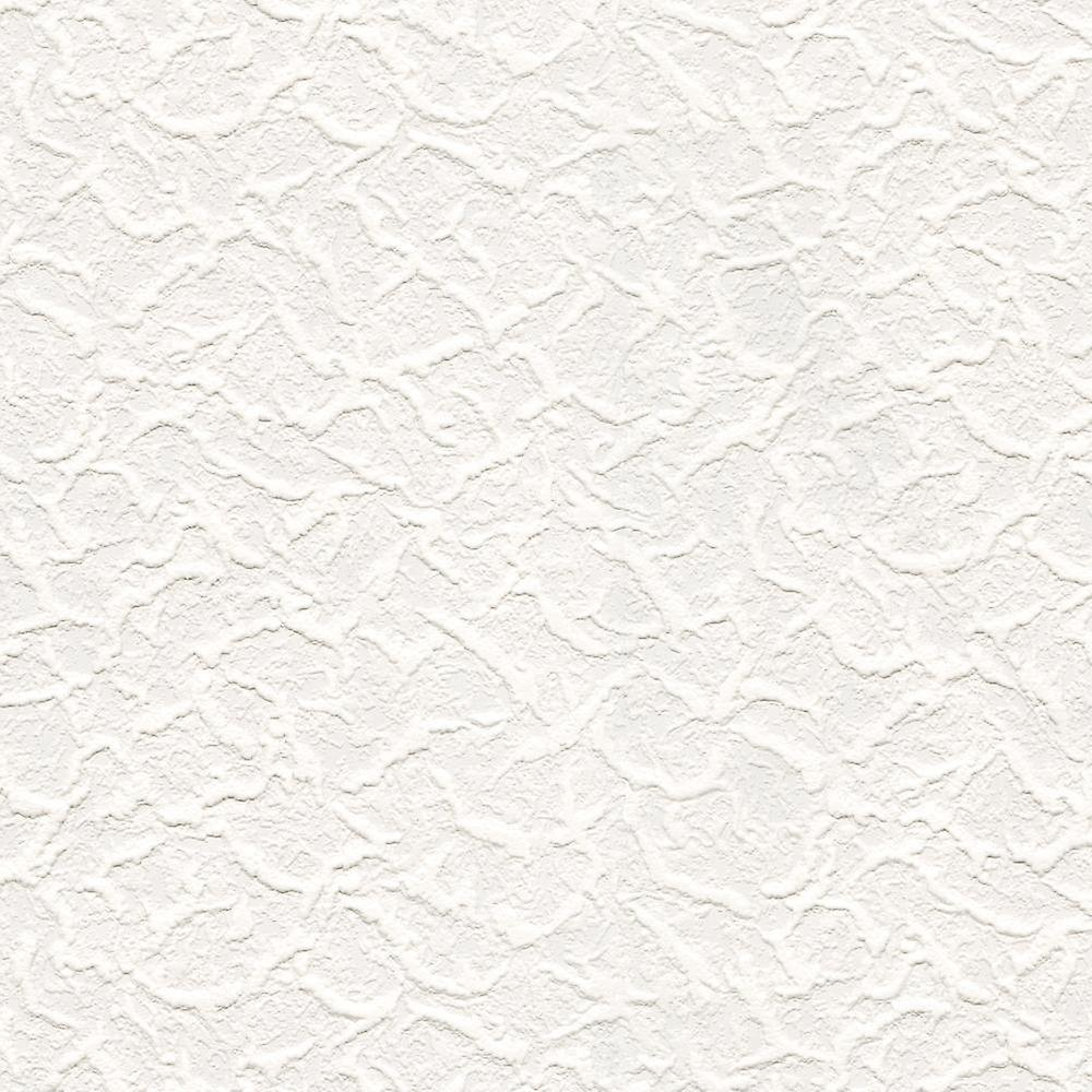 White Paintable Blown Vinyl Textured Wallpaper Cracked Ice White Paste The Paper
