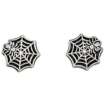 925 Silver Earring Web Spider