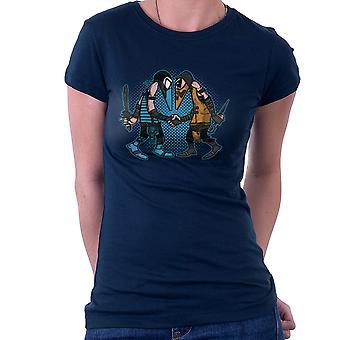 Mortal Kombat spioner Sub nul Vs skorpion Spy Vs Spy dame T-Shirt