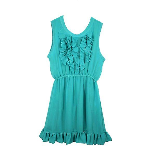W.A.T  Soft Emerald Green Chiffon Dress By AngelEye