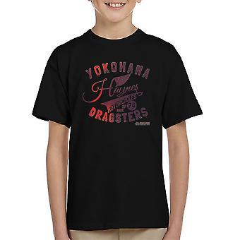 Haynes Brand Yokohama Dragsters Motorcycles Kid's T-Shirt