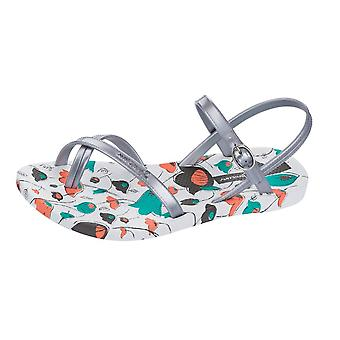 Ipanema Diamond IV Womens Flip Flops / Sandals - White and Silver