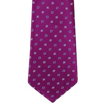 Michelsons of London Textured Pip Silk Tie - Magenta Purple