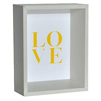GAD Portafoto natural wood with white sheet  Love  15x20x8,5 cm (Decoration , Frameworks)