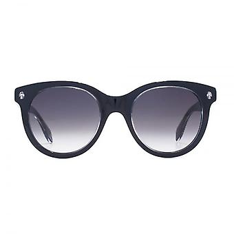 Alexander McQueen Ghost Skull Round Sunglasses In Black