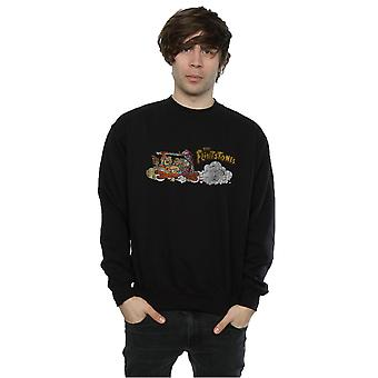 The Flintstones Men's Family Car Distressed Sweatshirt