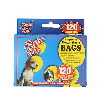 Playful Pets 120 Fragranced Doggy Easy Tie Handle Waste Bags