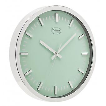 Balance wall clock 30 cm Analog Silver/Green