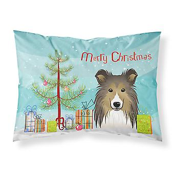Christmas Tree and Sheltie Fabric Standard Pillowcase