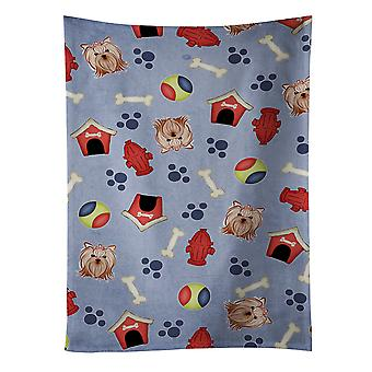 Dog House Collection Yorkie Yorkishire Terrier Kitchen Towel
