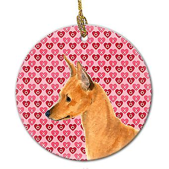 Carolines Treasures  SS4466CO1 Min Pin  Ceramic Ornament